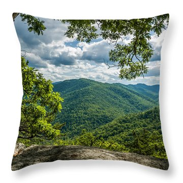 Blue Ridge Mountain View Throw Pillow