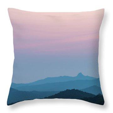 Blue Ridge Mountains After Sunset Throw Pillow
