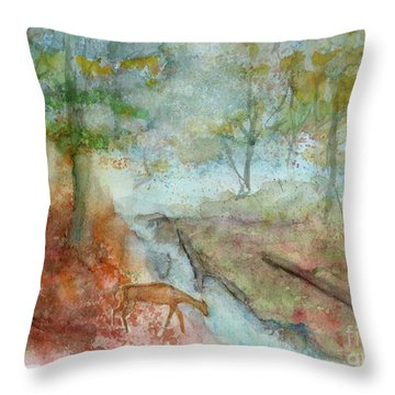 Blue Ridge Mountains Memories Throw Pillow