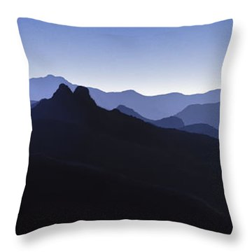 Throw Pillow featuring the photograph Blue Ridge Mountains. Pacific Crest Trail by David Zanzinger