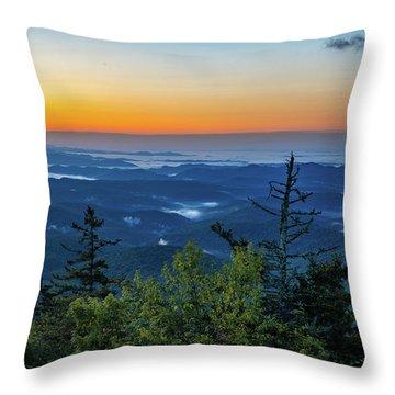 Blue Ridge Mountains Sunrise Throw Pillow