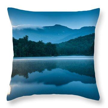 Blue Ridge North Carolina Full Moon Mountain Reflections Throw Pillow