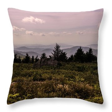 Blue Ridge Overlook Throw Pillow