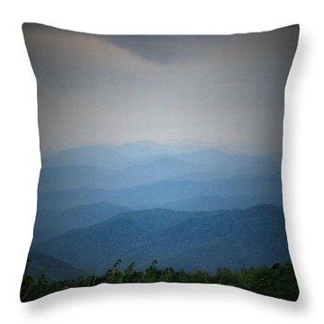 Blue Ridge Parkway Silhouette Throw Pillow by Jen McKnight