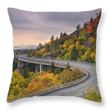 Lynn Cove Viaduct-blue Ridge Parkway  Throw Pillow
