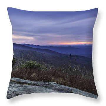 Blue Ridge Parkway Sunrise Throw Pillow