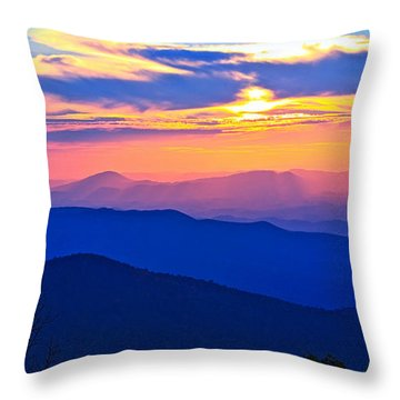 Blue Ridge Parkway Sunset, Va Throw Pillow