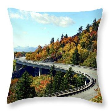 Throw Pillow featuring the photograph Blue Ridge Parkway Viaduct by Meta Gatschenberger