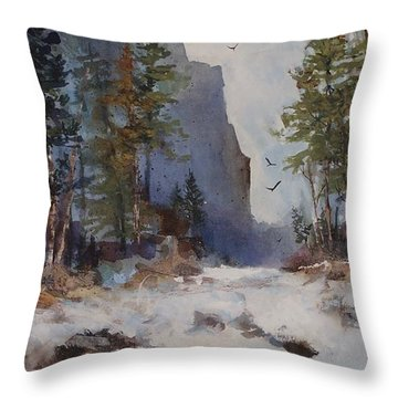 Blue Ridge Pass Throw Pillow