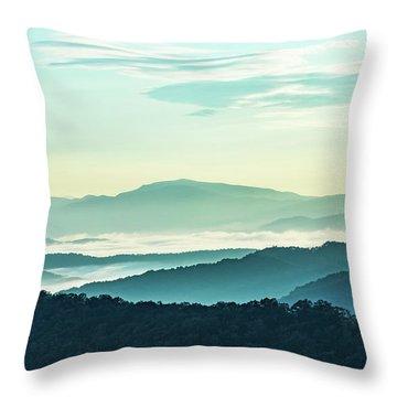 Blue Ridge Pastel Throw Pillow