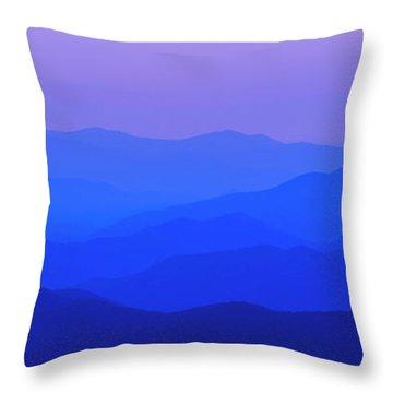 Blue Ridge Spring 08 Throw Pillow