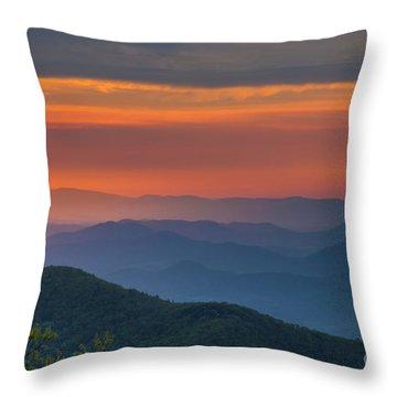 Blue Ridge Sunrise At Wintergreen  Throw Pillow