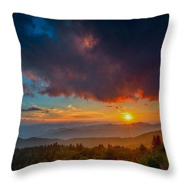 Throw Pillow featuring the photograph Blue Ridge Sunset by Joye Ardyn Durham
