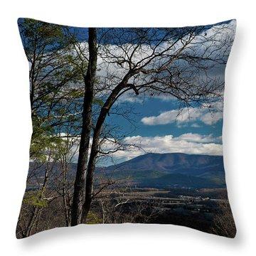 Throw Pillow featuring the photograph Blue Ridge Thornton Gap by Lara Ellis