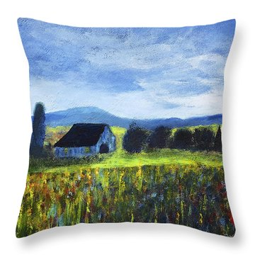 Blue Ridge Valley Throw Pillow
