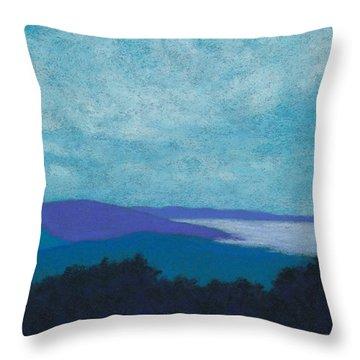 Blue Ridges 3 Throw Pillow