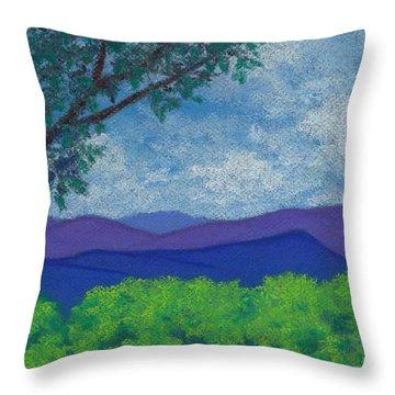 Blue Ridges 4 Throw Pillow