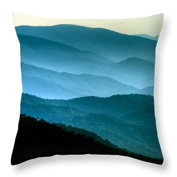 Blue Ridges Throw Pillow