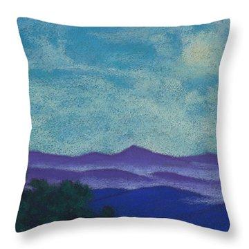 Blue Ridges Mist 1 Throw Pillow