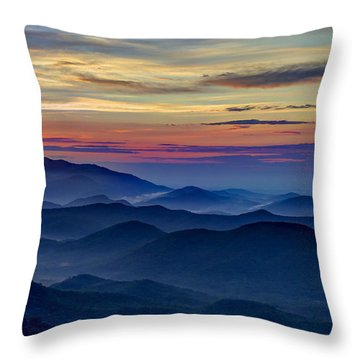 Throw Pillow featuring the photograph Blue Ridges Pretty Place Chapel by Reid Callaway