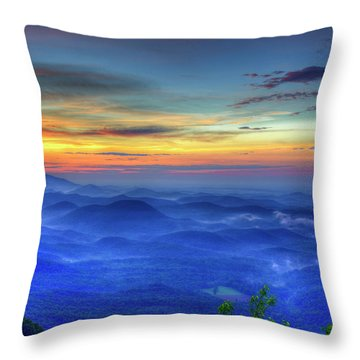 Throw Pillow featuring the photograph Blue Ridges Pretty Place Chapel Wedding Venue Art  by Reid Callaway