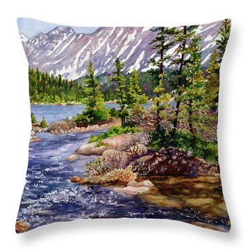 Blue River Throw Pillow
