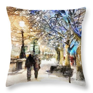 Blue Romance Throw Pillow by Shirley Stalter