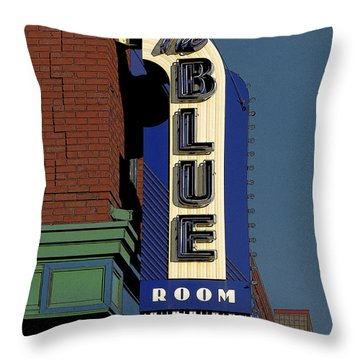 Blue Room Throw Pillow by Jim Mathis