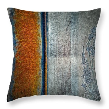 Blue Rust Throw Pillow