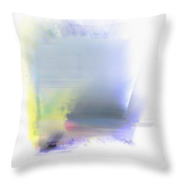 Blue Sails Throw Pillow by Dee Flouton