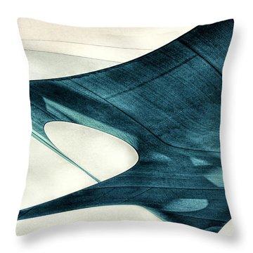 Blue Sails Throw Pillow