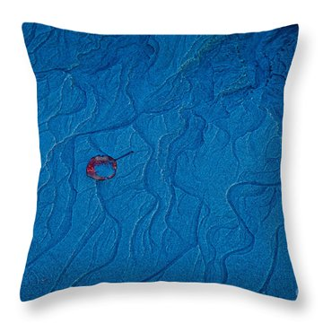 Blue Sand Throw Pillow by Susan Cole Kelly
