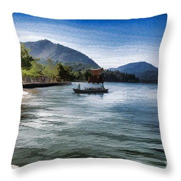 Blue Sea Throw Pillow by Pravine Chester