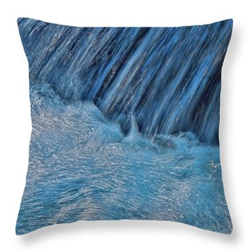 Blue Seam Throw Pillow