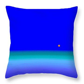 Blue Seas Throw Pillow by Val Arie