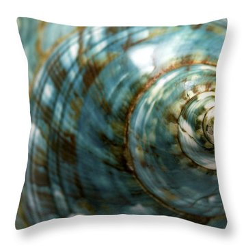 Blue Seashell Throw Pillow