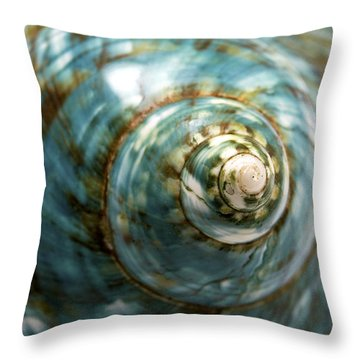 Blue Seashell Throw Pillow by Fabrizio Troiani