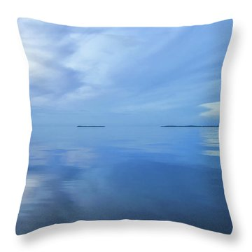 Throw Pillow featuring the photograph Blue Serenity by Louise Lindsay