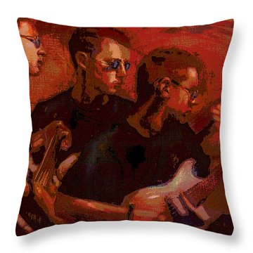 Blue Shades Throw Pillow