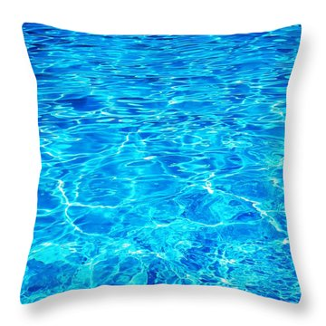 Throw Pillow featuring the photograph Blue Shadow by Ramona Matei