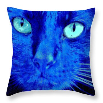 Throw Pillow featuring the photograph  Blue Shadows by Al Fritz