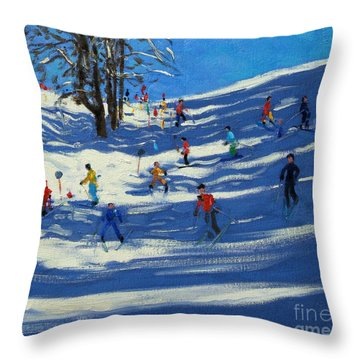 Blue Shadows Throw Pillow by Andrew Macara