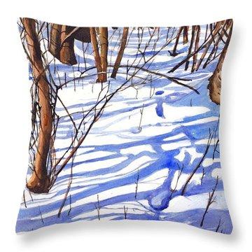 Blue Shadows Throw Pillow