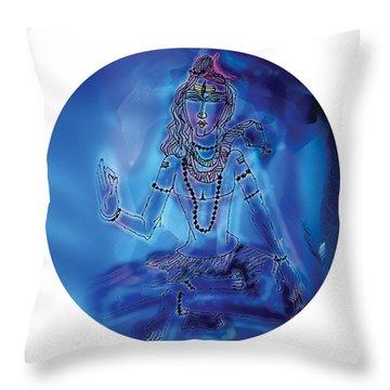 Blue Shiva  Throw Pillow