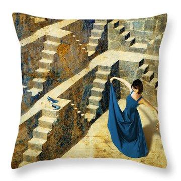 Blue Shoes Throw Pillow by Van Renselar
