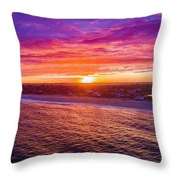 Blue Shutter East Beach Throw Pillow