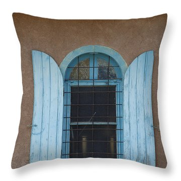 Blue Shutters Throw Pillow by Jerry McElroy