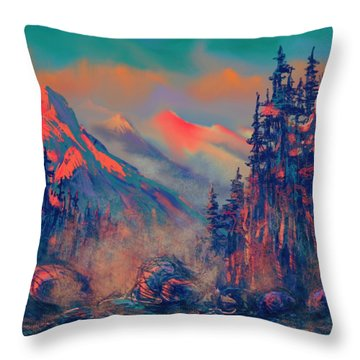 Blue Silence Throw Pillow