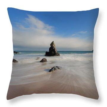 Blue Skies Above Sango Bay Throw Pillow