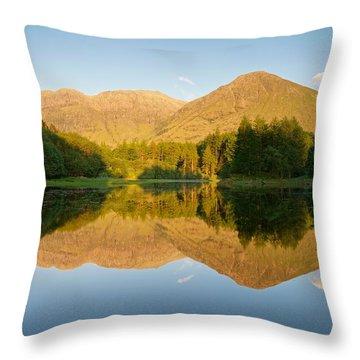 Blue Skies At Torren Lochan Throw Pillow